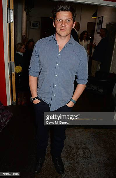Nigel Harman attends the press night after party for 'A Midsummer Night's Dream' at Southwark Playhouse on June 6 2016 in London England