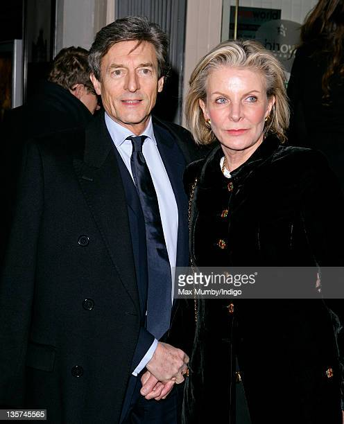 Nigel Havers and Georgiana Bronfman attend a screening of 'Christmas at Downton Abbey' at Cineworld Haymarket on December 12 2011 in London England