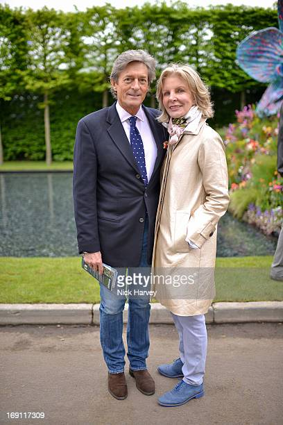 Nigel Havers and Georgiana Bronfman attend the Chelsea Flower Show press and VIP preview day at Royal Hospital Chelsea on May 20, 2013 in London,...