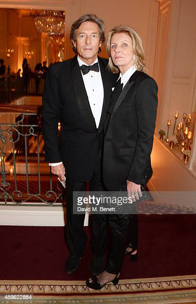 Nigel Havers and Georgiana Bronfman attend the Louis Dundas Centre Dinner at the Mandarin Oriental Hyde Park on November 26 2014 in London England