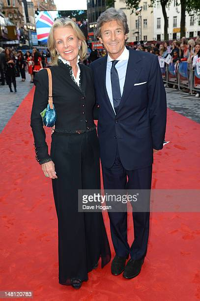 Nigel Havers and Georgiana Bronfman attend the UK premiere of Chariots Of Fire at The Empire Leicester Square on July 10 2012 in London England