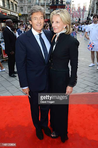 Nigel Havers and Georgiana Bronfman attend the UK premiere of Chariots Of Fire at The Empire Leicester Square on July 10, 2012 in London, England.