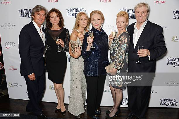 Nigel Havers Cherie Lunghi Rosalind Ayres Sian Phillips Christine Kavanagh and Martin Jarvis attend an after party following the press night...