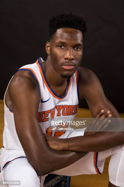 Nigel Hayes of the New York Knicks is photographed at New York Knicks Media Day on September 25 2017 in Greenburgh New York