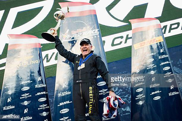 Nigel Lamb of Great Britain wins the Red Bull Air Race World Championship 2014 on October 26 2014 in Spielberg Austria