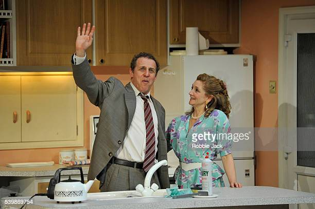 Nigel Lindsay as Jack McCracken and Debra Gillett as Poppy McCracken in Alan Ayckbourn's A Small Family Business directed by Adam Penford at the...