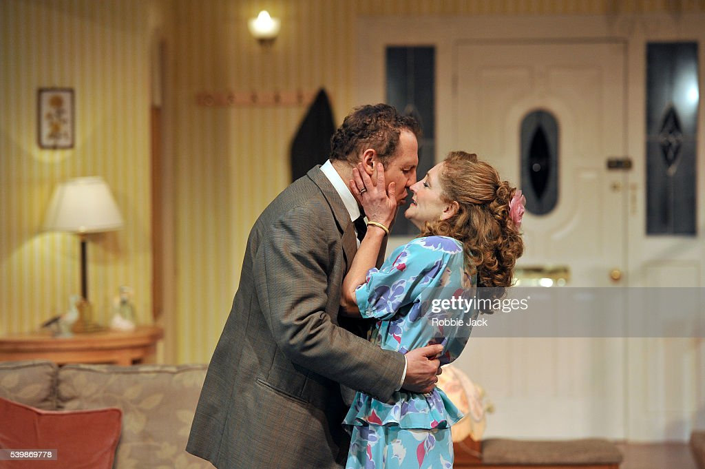 UK - Alan Ayckbourn's A Small Family Business directed by Adam Penford at the National Theatre in London. : News Photo