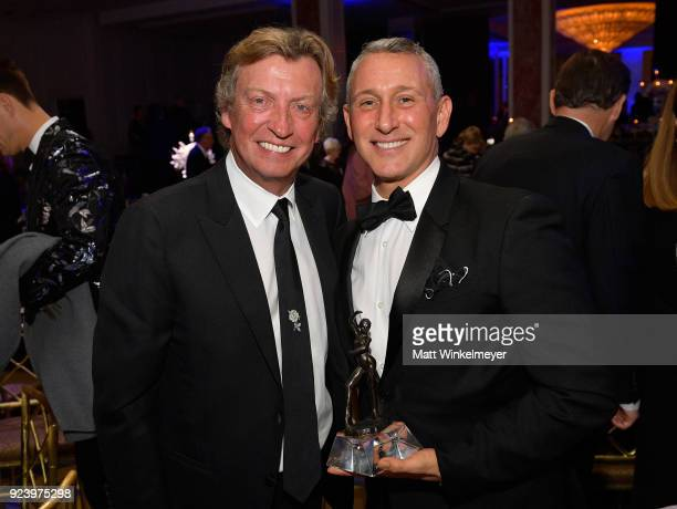 Nigel Lythgoe and Adam Shankman attend the 12th Annual Los Angeles Ballet Gala at the Beverly Wilshire Four Seasons Hotel on February 24 2018 in...