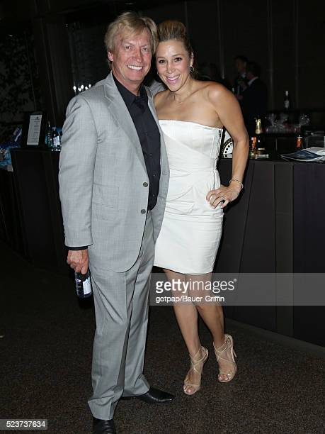 Nigel Lythgoe and Becky Baeling Lythgoe are seen on April 23 2016 in Los Angeles California