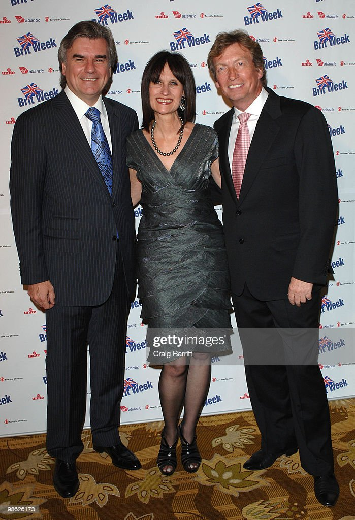 Nigel Lythgoe and Bob Pearce arrives at BritWeek's Save The Children And Virgin Unite Charity Event at the Beverly Wilshire hotel on April 22, 2010 in Beverly Hills, California.