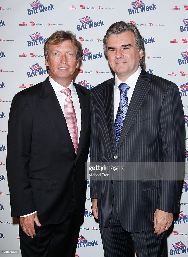 Nigel Lythgoe (L) and Bob Peirce arrive to the BritWeek 2010 charity event: 'Save The Children And Virgin Unite' held at the Beverly Wilshire hotel on April 22, 2010 in Beverly Hills, California.