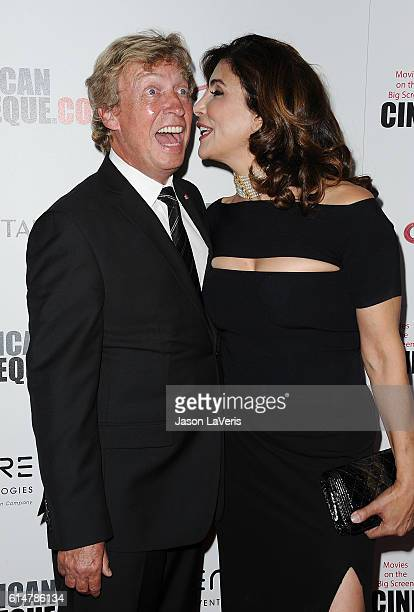 Nigel Lythgoe and Jo Champa attend the 30th annual American Cinematheque Awards gala at The Beverly Hilton Hotel on October 14 2016 in Beverly Hills...