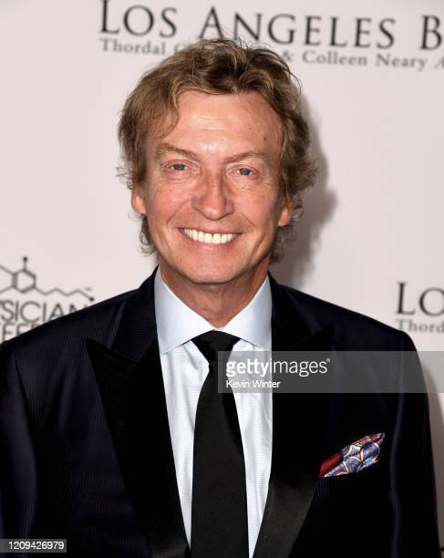 Nigel Lythgoe arrives at the Los Angeles Ballet Gala 2020 at The Broad Stage on February 28 2020 in Santa Monica California