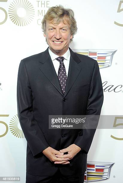 Nigel Lythgoe arrives at The Music Center's 50th Anniversary launch party at Dorothy Chandler Pavilion on April 1 2014 in Los Angeles California