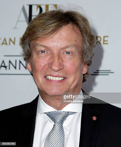 Nigel Lythgoe attends the 75th Anniversary Holiday Benefit hosted by the American Ballet Theatre at The Beverly Hilton Hotel on December 7 2015 in...