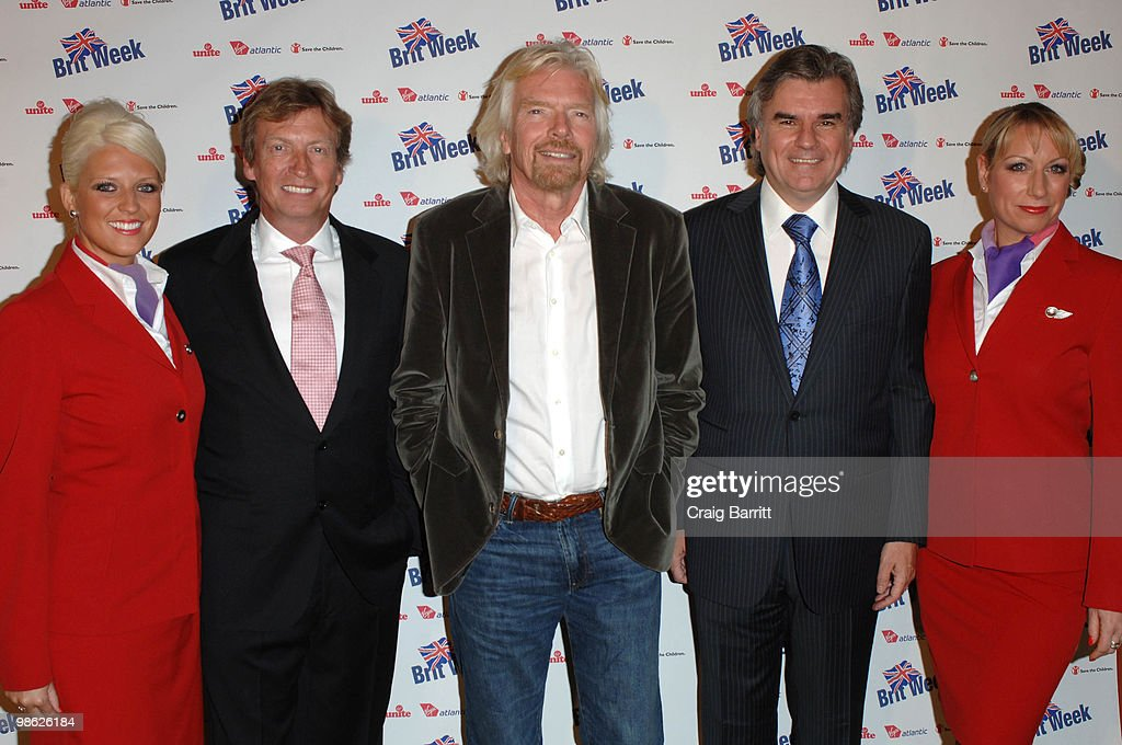 Nigel Lythgoe Richard Branson and Bob Pearce arrives at BritWeek's Save The Children And Virgin Unite Charity Event at the Beverly Wilshire hotel on April 22, 2010 in Beverly Hills, California.