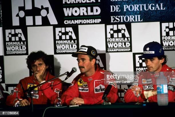 Nigel Mansell, Alain Prost, Ayrton Senna, Grand Prix of Portugal, Estoril, 23 September 1990.