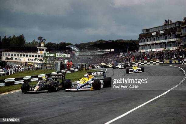 Nigel Mansell, Ayrton Senna, Grand Prix of Europe, Brands Hatch, 06 October 1985.