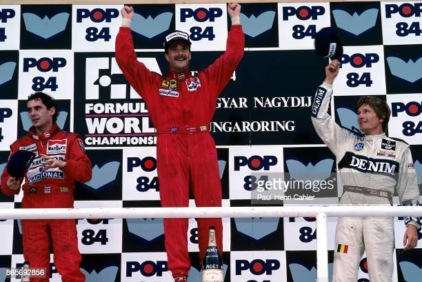Nigel Mansell Ayrton Senna Thierry Boutsen Grand Prix of Hungary Hungaroring 13 August 1989