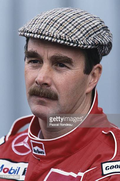 Nigel Mansell driver of the Marlboro McLaren Mercedes McLaren MP410 Mercedes 30 V10 during the Formula One pre season testing on 3rd March 1995 at...
