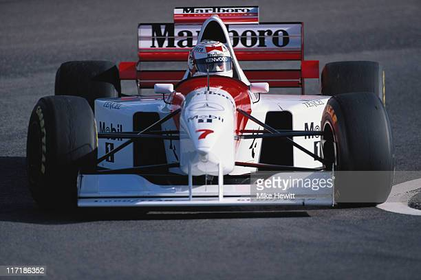 Nigel Mansell drives the Marlboro McLaren Mercedes McLaren MP410 Mercedes 30 V10 during the Formula One pre season testing on 3rd March 1995 at the...