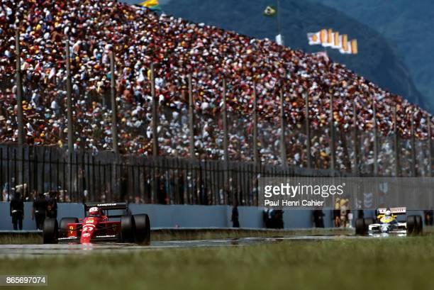 Nigel Mansell, Ferrari 640, Grand Prix of Brazil, Jacarepagua, 26 March 1989.