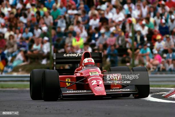 Nigel Mansell, Ferrari 640, Grand Prix of Hungary, Hungaroring, 13 August 1989.