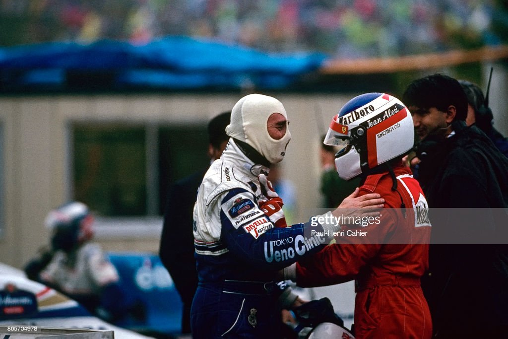 Nigel Mansell, Jean Alesi, Grand Prix Of Japan : News Photo
