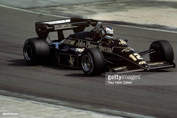 Nigel Mansell, Lotus-Renault 95T, Grand Prix of France, Dijon-Prenois, 20 May 1984.