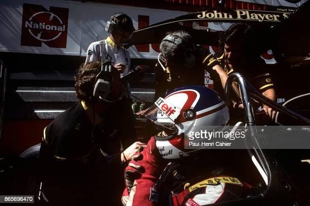 Nigel Mansell, Lotus-Renault 95T, Grand Prix of South Africa, Kyalami, 04 July 1984.