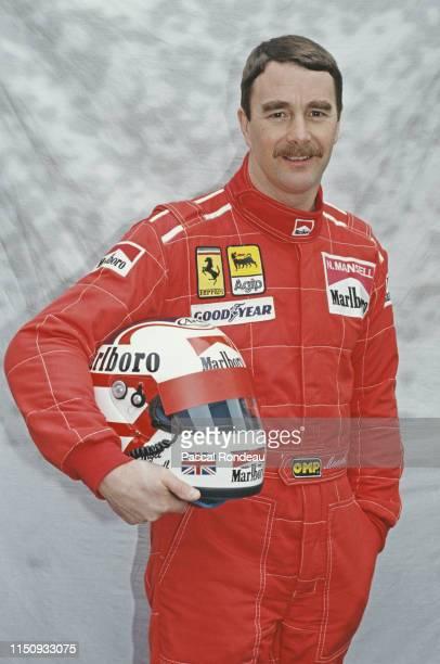 Nigel Mansell of Great Britain driver of the Scuderia Ferrari SpA Ferrari 641 Ferrari V12 during pre season testing on 10th February 1990 at the...