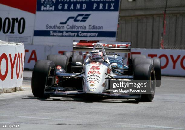 Nigel Mansell of Great Britain enroute to a third place finish driving a Lola T93/00 with a Ford Cosworth XB engine for Kmart Texaco Newman/Haas...