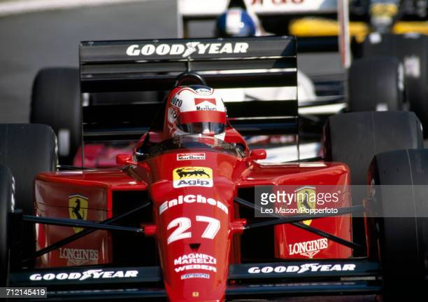 Nigel Mansell of Great Britain in action, driving a Ferrari 640 with a Ferrari 035/5 3.5 V12 engine for Scuderia Ferrari SpA SEFAC, during the Monaco...