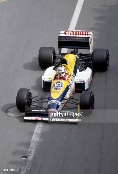 Nigel Mansell of Great Britain in action, driving a Williams FW12 with a Judd CV 3.5 V8 engine for Team Canon Williams, during the Monaco Grand Prix...