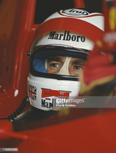 Nigel Mansell of Great Britain sits aboard the Scuderia Ferrari Ferrari 640 V12 during practice for the Japanese Grand Prix on 21st October 1989 at...