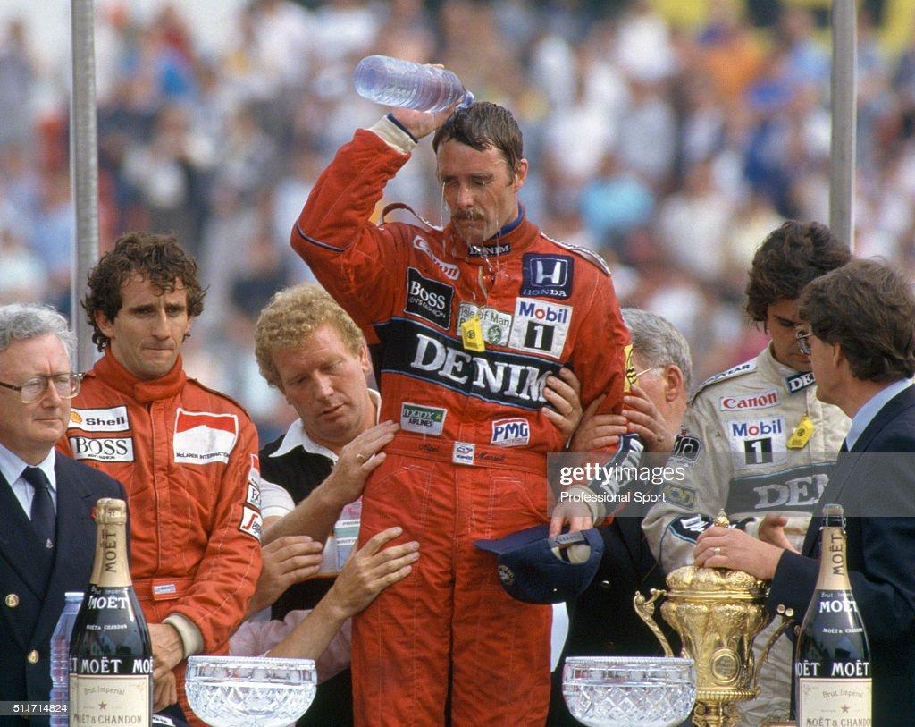 Nigel Mansell Wins the British Grand Prix : News Photo