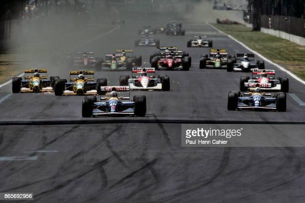 Nigel Mansell Ricardo Patrese Michael Schumacher Martin Brundle Gerhard Berger Ayrton Senna WilliamsRenault FW14B BenettonFord B191B McLarenHonda...