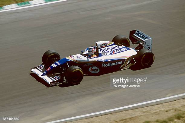 Nigel Mansell testing the Williams Renault FW16