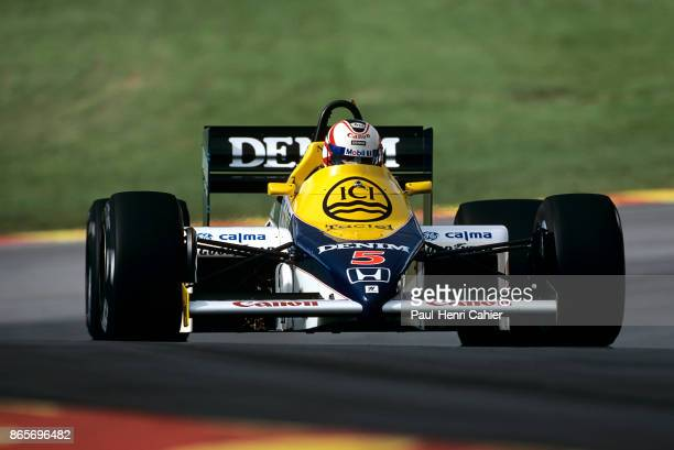Nigel Mansell WilliamsHonda FW10 Grand Prix of Europe Brands Hatch 6th October 1985 It was Mansell's first Grand Prix victory