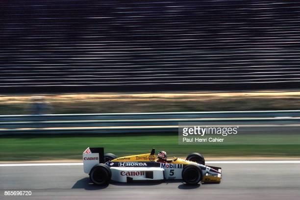 Nigel Mansell, Williams-Honda FW11, Grand Prix of Hungary, Hungaroring, 10 August 1986.