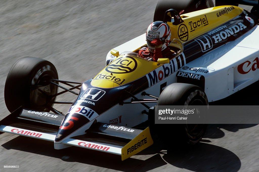 Nigel Mansell, Grand Prix Of Spain : News Photo