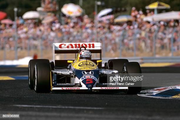 Nigel Mansell WilliamsHonda FW11B Grand Prix of France Circuit Paul Ricard 05 July 1987
