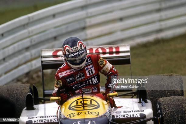 Nigel Mansell WilliamsHonda FW11B Grand Prix of Germany Hockenheimring 26 July 1987 Nigel Mansell retired with mechanical failure on his...