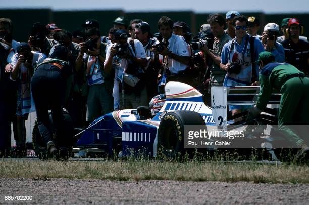 Nigel Mansell WilliamsRenault FW16 Grand Prix of France Circuit de Nevers MagnyCours 03 July 1994 Retirement for Nigel Mansell and his...