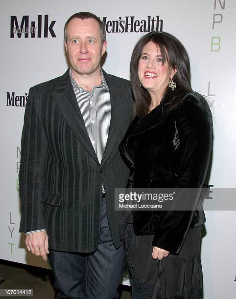 """Nigel Parry and Monica Lewinsky during Opening Night Party for Nigel Parry's """"Blunt Exhibition"""" Hosted by Men's Health - December 5, 2006 at MILK..."""