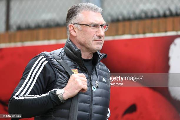 Nigel Pearson manager of Watford during the Premier League match between Crystal Palace and Watford at Selhurst Park London on Saturday 7th March 2020