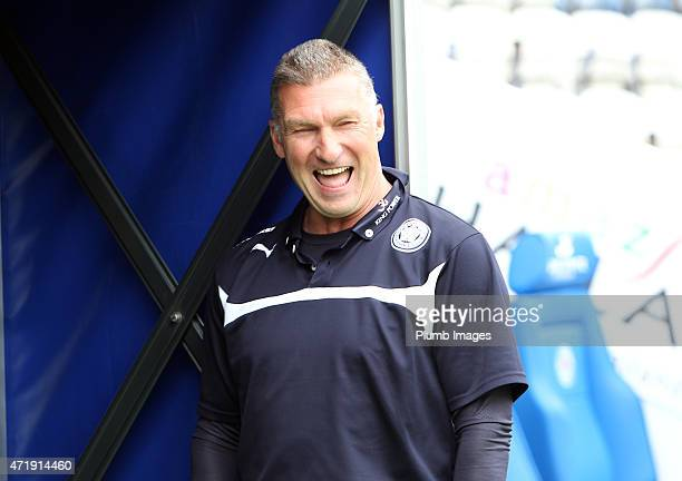 Nigel Pearson of Leicester City at King Power Stadium ahead of the Premier League game between Leicester City and Newcastle United at The King Power...