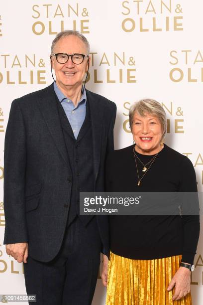 Nigel Planer and Jenni Murray attends a special screening of Stan Ollie at Soho Hotel on January 08 2019 in London England