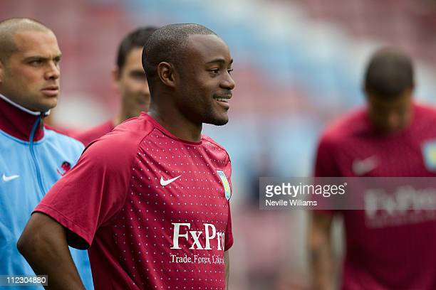 Nigel Reo Coker of Aston Villa before the Barclays Premier League match between West Ham United and Aston Villa at Boleyn Ground on April 16 2011 in...