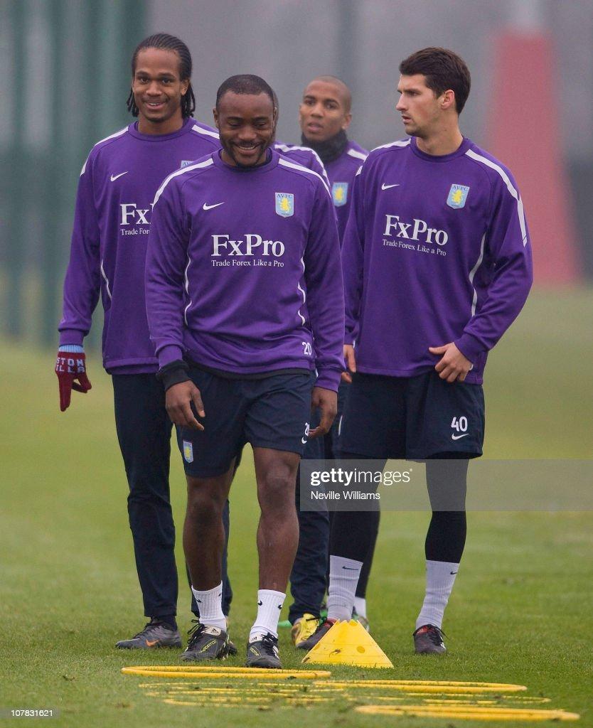 Aston Villa Training Session & Press Conference